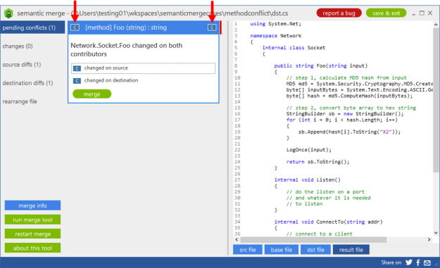 Semantic Merge tool