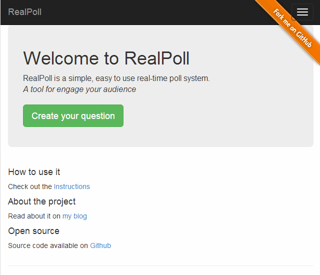 welcomeToRealPoll