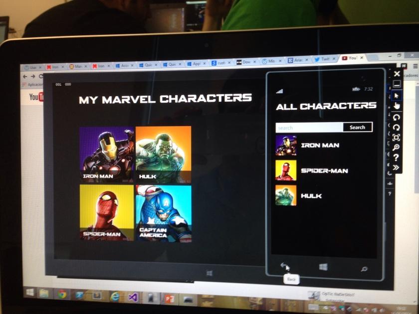 My Super Heroes con fuentes personalizadas gracias a @jsuarezruiz