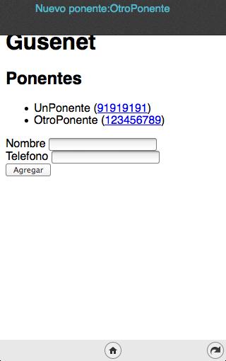 Base de datos, teléfono y notificaciones
